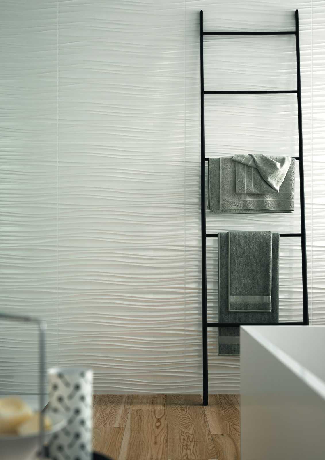 absolute white rivestimento bianco strutture 3d marazzi. Black Bedroom Furniture Sets. Home Design Ideas