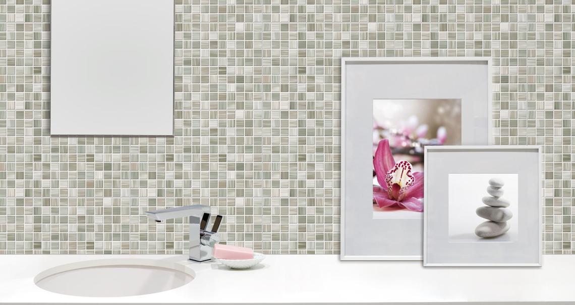 Bits gres porcellanato effetto mosaico marazzi - Rivestimento bagno effetto marmo ...
