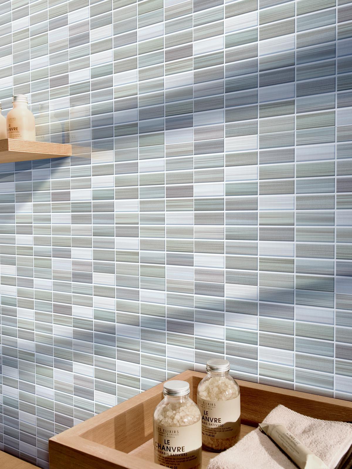 Bits gres porcellanato effetto mosaico marazzi - Mattonelle mosaico bagno ...