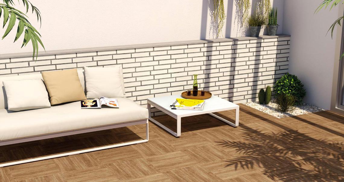 Pavimenti per esterno effetto legno teak tavola per esterno