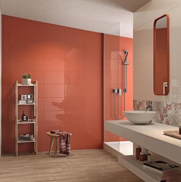 piastrelle per bagno colore arancione marazzi