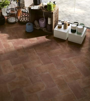 Gres porcellanato effetto cotto e cemento per attivit for Marazzi cotto d italia