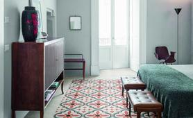 Piastrelle pavimenti camera da letto in gres finto legno parquet