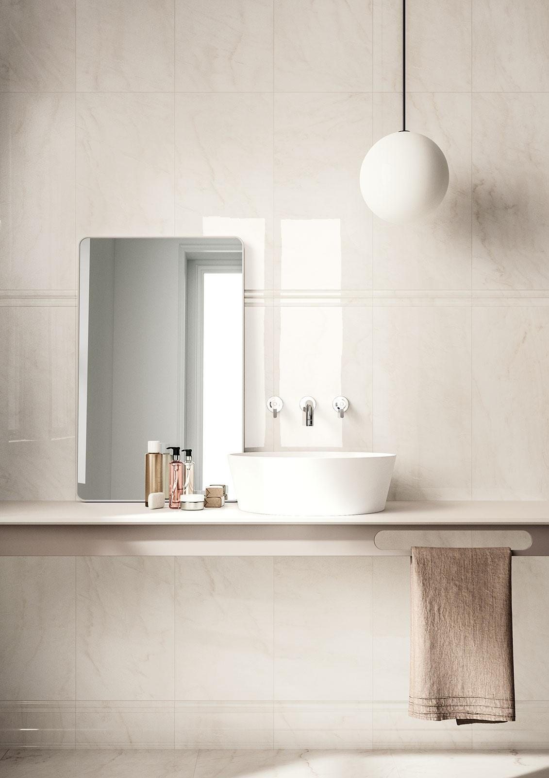 Rivestimento rivestimento effetto marmo marazzi for Bagno effetto marmo
