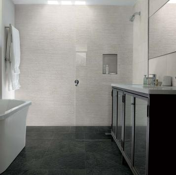 Piastrelle per bagno colore grigio marazzi - Colore piastrelle bagno ...