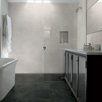 Piastrelle per bagno colore grigio marazzi - Piastrelle grigie bagno ...