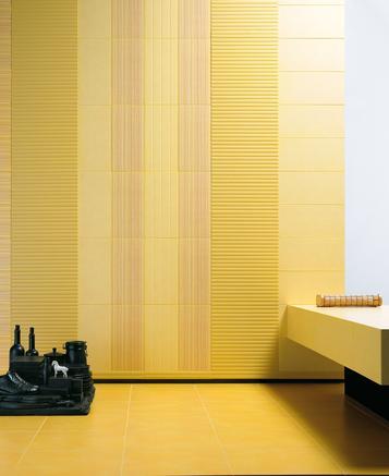 Piastrelle per salotto colore giallo marazzi - Piastrelle salotto ...