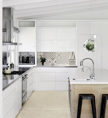 Piastrelle cucina idee in ceramica e gres marazzi - Mattonelle per cucina moderna ...