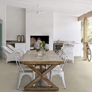 Piastrelle per salotto colore grigio marazzi - Piastrelle salotto ...