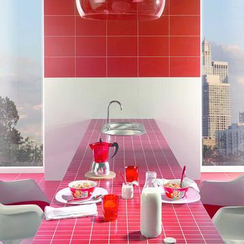 Piastrelle per cucina colore rosso marazzi - Piastrelle bagno damascate ...