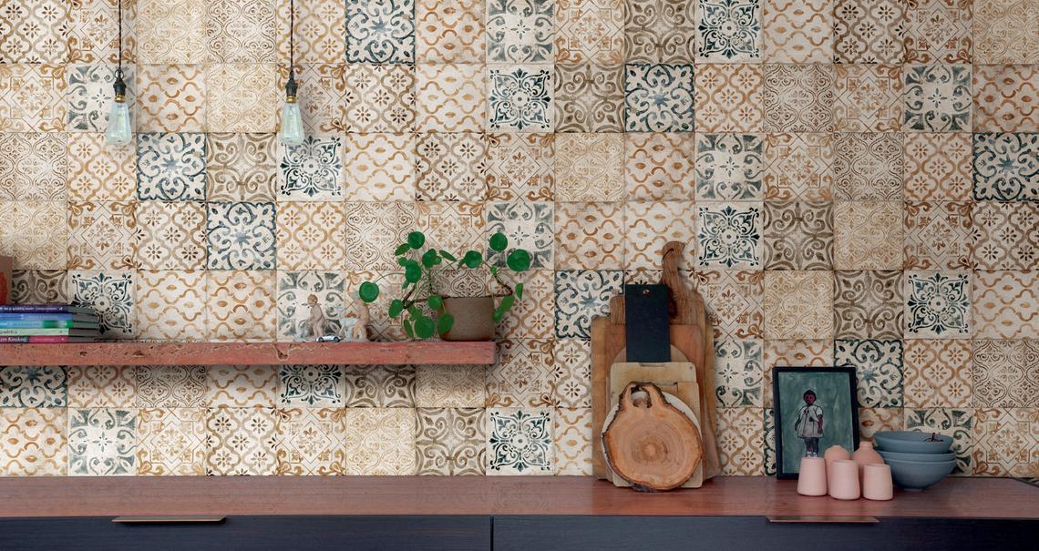 Mist l effetto cemento ispirato alle antiche maioliche for Piastrelle maiolica cucina