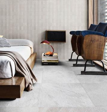 Gres porcellanato effetto pietra per camera da letto marazzi - Piastrelle effetto roccia ...