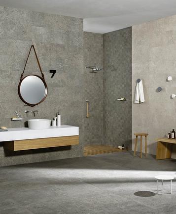 Gres porcellanato effetto pietra per bagno marazzi - Piastrelle effetto roccia ...