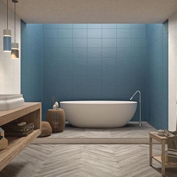 Bagno Con Mattonelle Blu.Piastrelle Per Bagno Colore Blu Marazzi