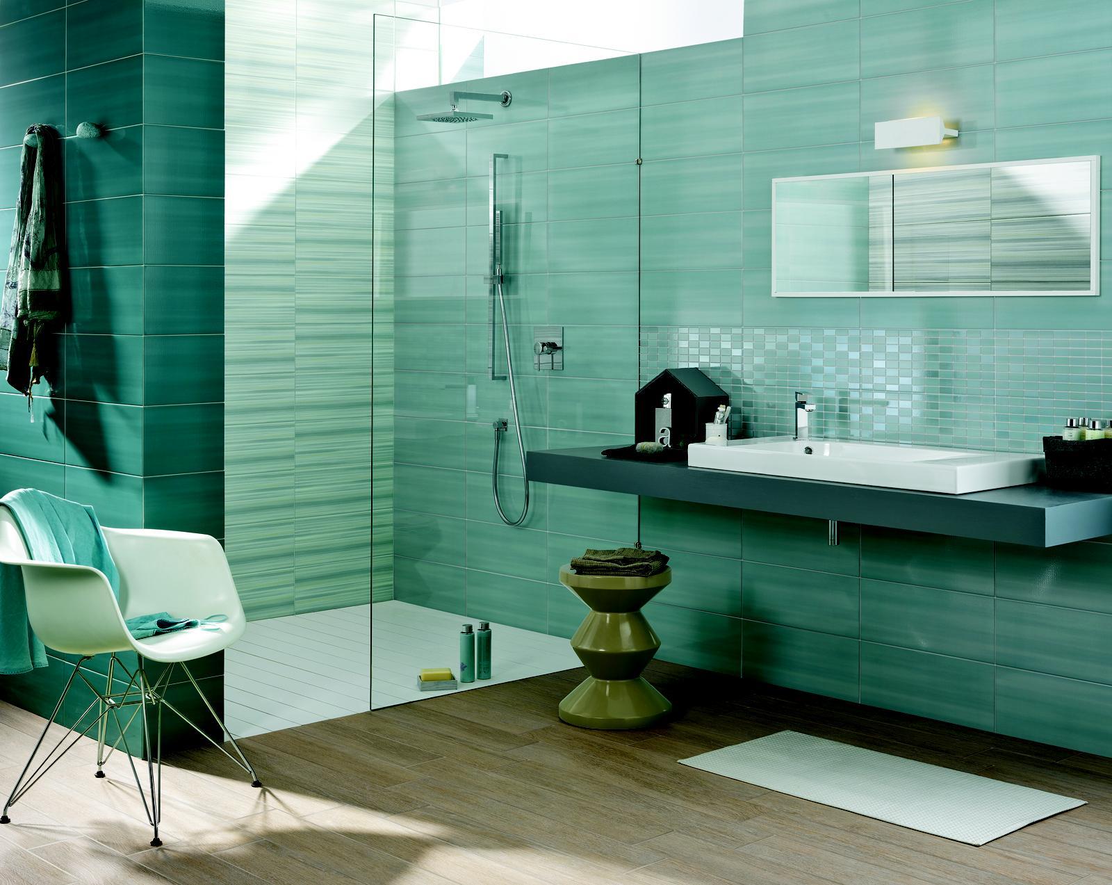 Piastrelle Bagno Turchese : Piastrelle da bagno azzurre elegante rivestimento bagno tivoli cm