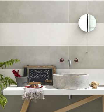 Gres porcellanato effetto cotto e cemento colore bianco for Marazzi cotto antico