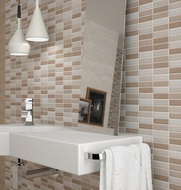 Piastrelle beige formato mosaico marazzi - Piastrelle maxi formato ...