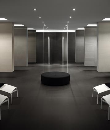 Gres porcellanato effetto cotto e cemento per bagno marazzi - Piastrelle effetto cotto ...