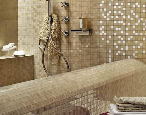 Bagno Con Mosaico Beige : Piastrelle a mosaico per bagno e altri ambienti marazzi