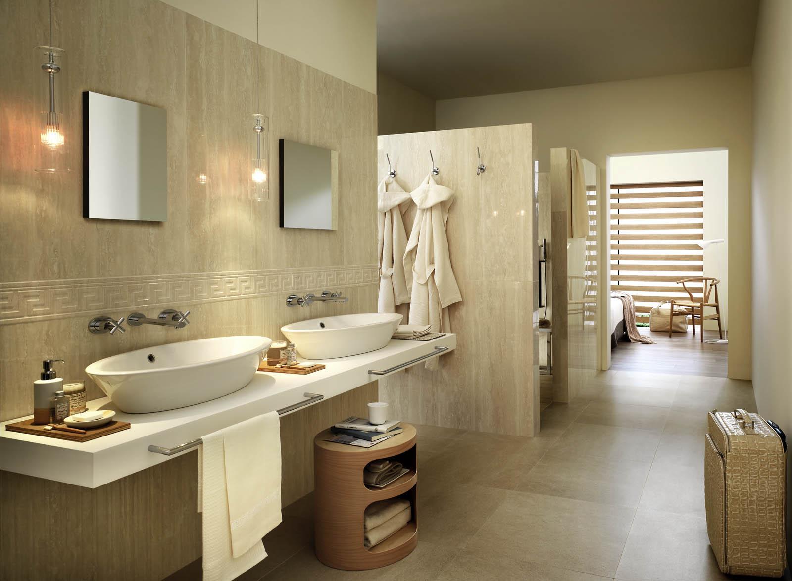 Elegante marche piastrelle bagno awesome bagno travertino mosaico
