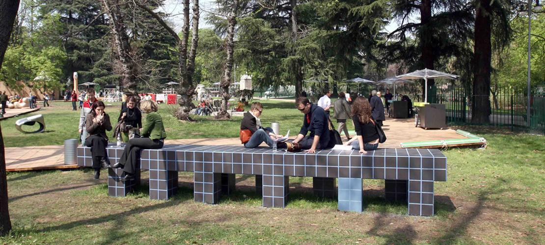 Giardini della triennale rivestimento in gres marazzi for Giardino triennale