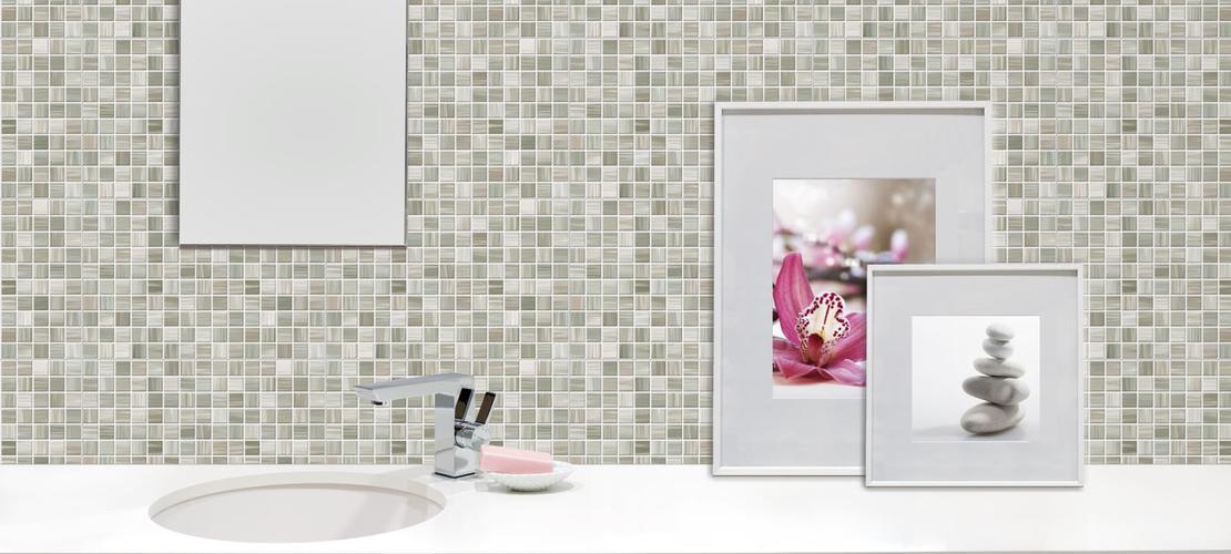 Bits gres porcellanato effetto mosaico per bagni e cucine marazzi - Mattonelle mosaico per bagno ...