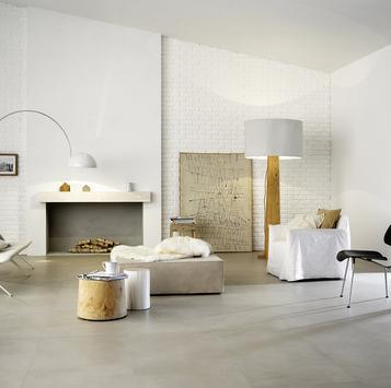 Gres porcellanato effetto cotto e cemento formato grandi for Piastrelle grandi formati