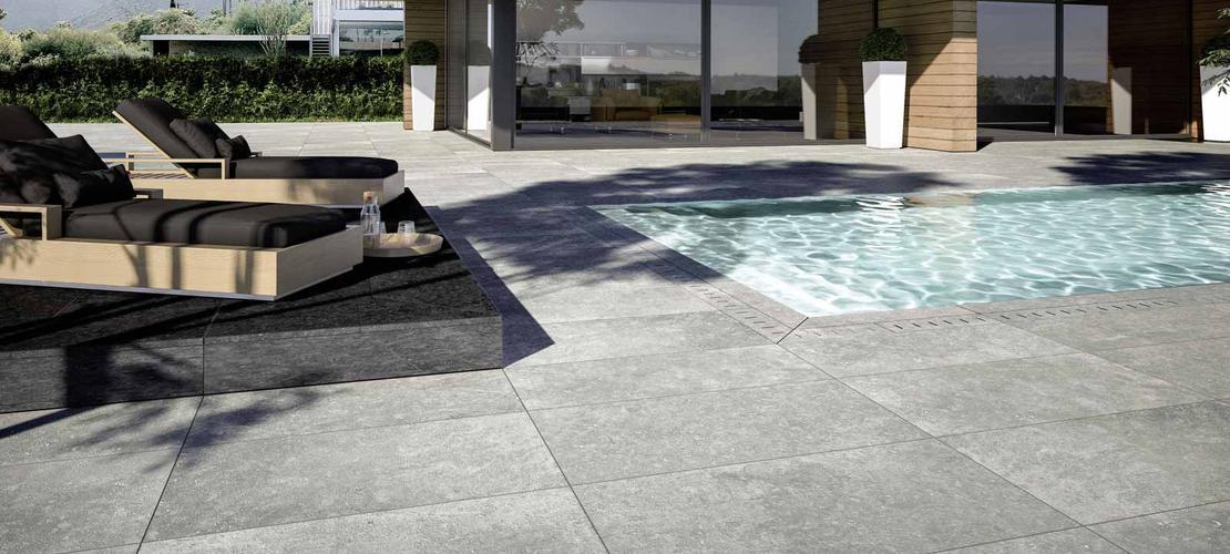 Pavimenti per esterni piastrelle gres porcellanato marazzi for Giardino piastrellato