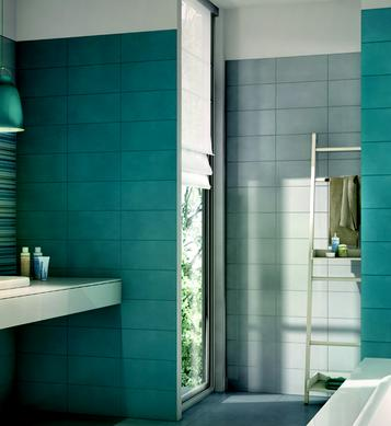 Piastrelle per bagno colore azzurro marazzi - Piastrelle viola bagno ...