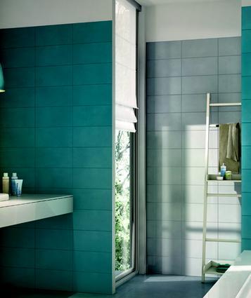 Piastrelle per bagno colore azzurro marazzi - Piastrelle per bagno marazzi ...
