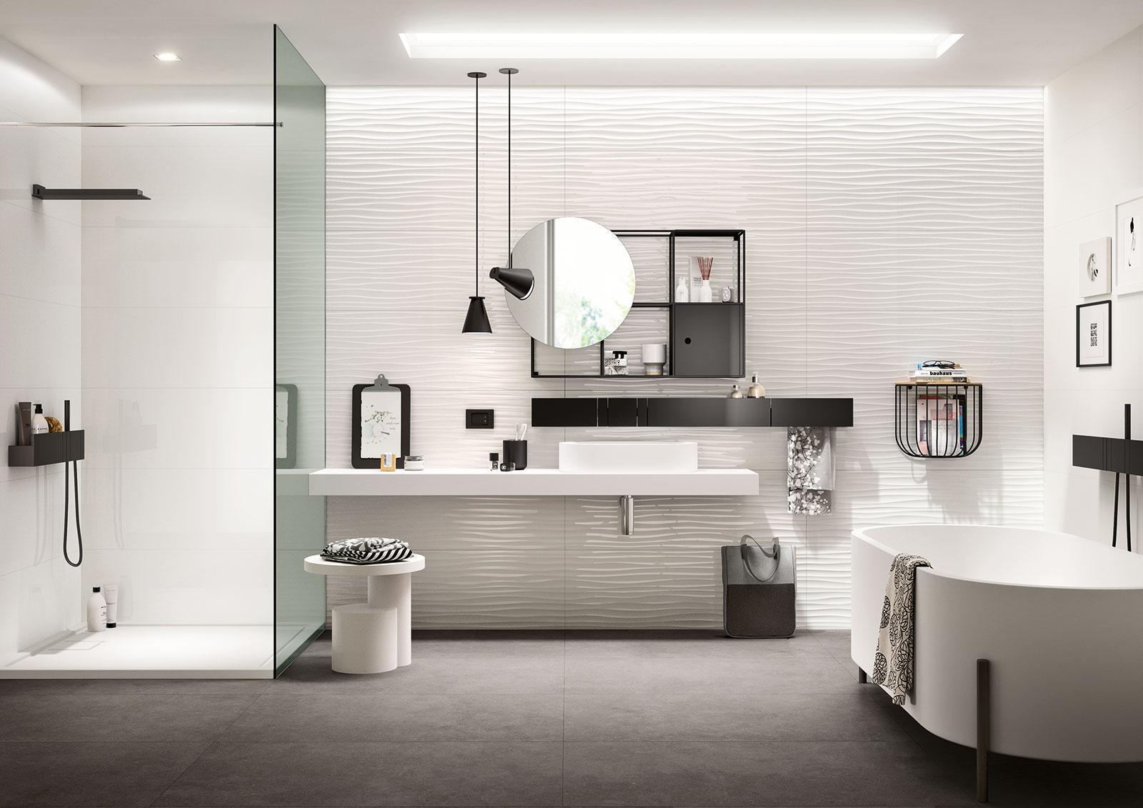 Bagni Piastrelle Bianche : Essenziale ceramica bianca per bagni marazzi