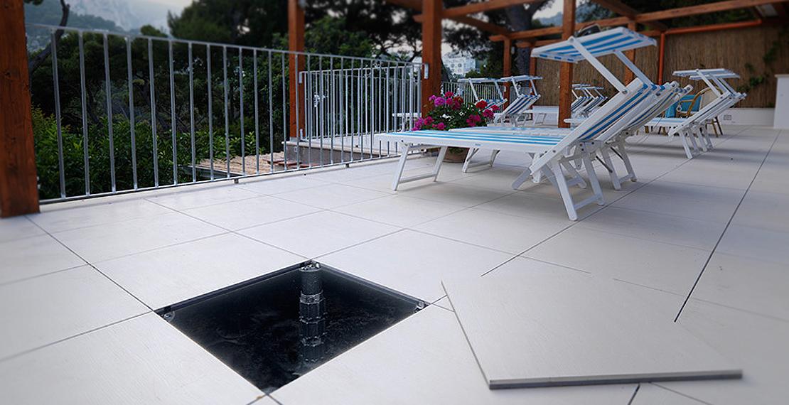 Pavimento galleggiante su guaina di un terrazzo xq43 for Pavimento galleggiante prezzo