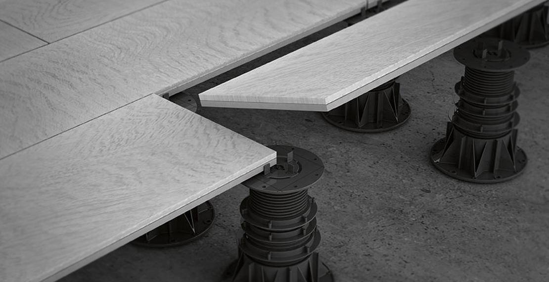 I materiali per pavimenti sopraelevati marazzi - Cubierta sobre plots ...