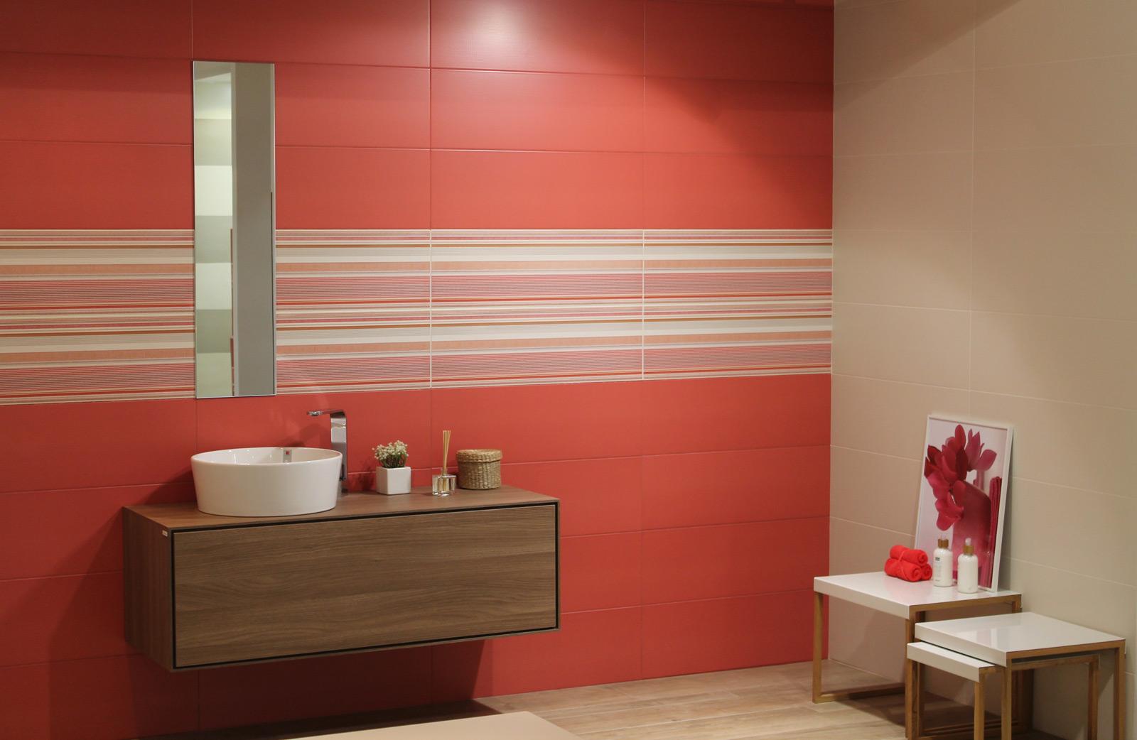 bagno beige e rosso ~ idee creative di interni e mobili - Bagni Moderni Rossi