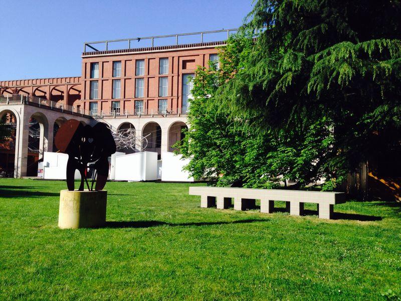 Il nuovo millepiedi design aldo cibic ai giardini della for Giardino triennale
