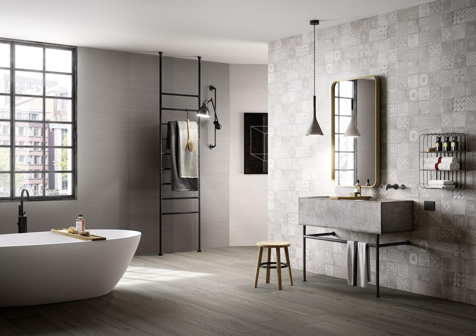 bagno moderno in stile nordico | marazzi - Soluzioni Bagni Moderni