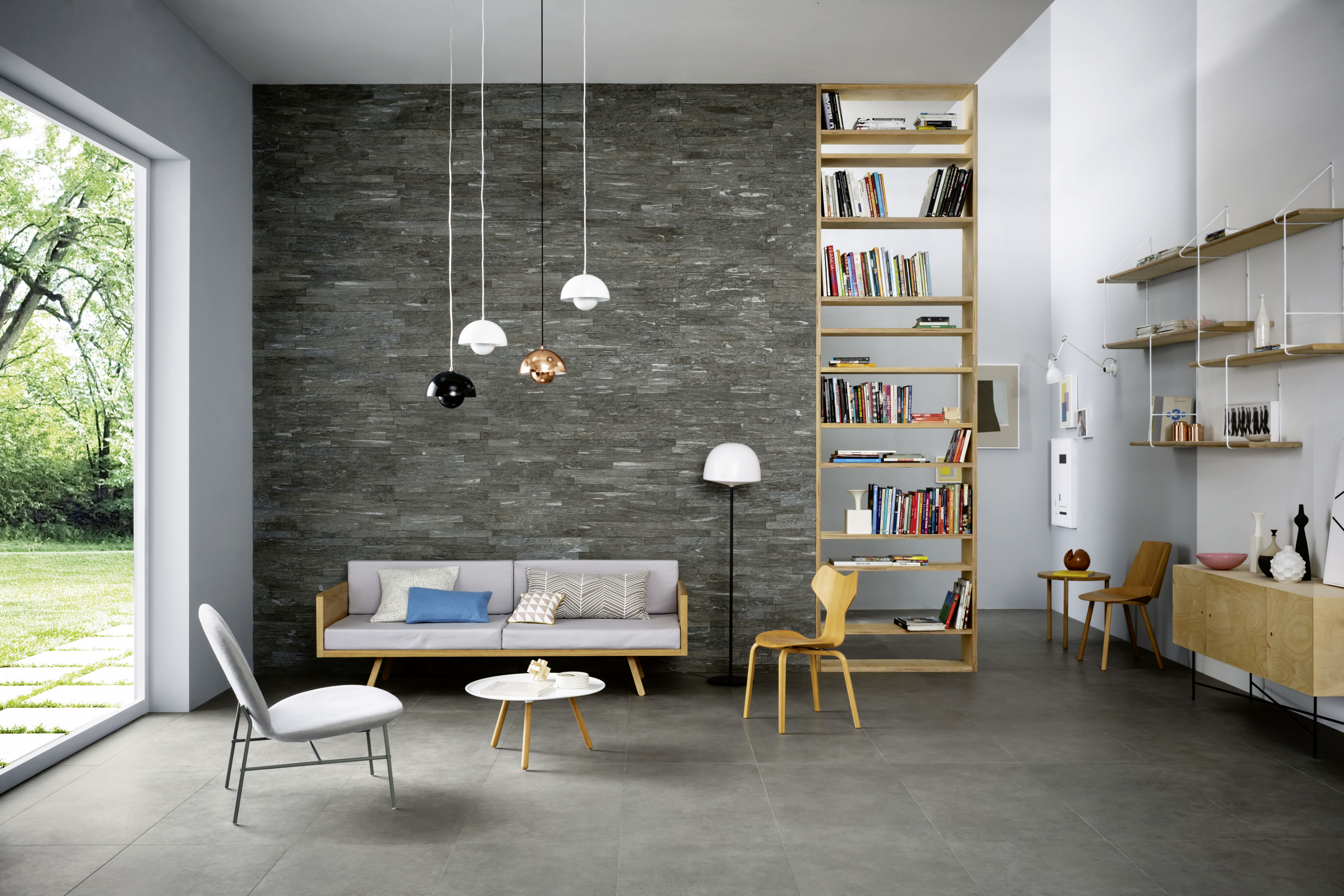 Pareti in pietra per interni minimal marazzi - Pietra per interni parete ...