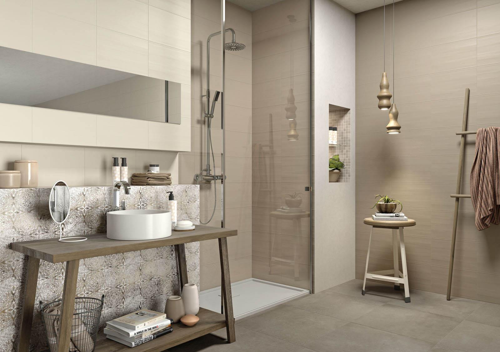 Rivestimento bagno chroma neutral marazzi - Idee rivestimento bagno ...