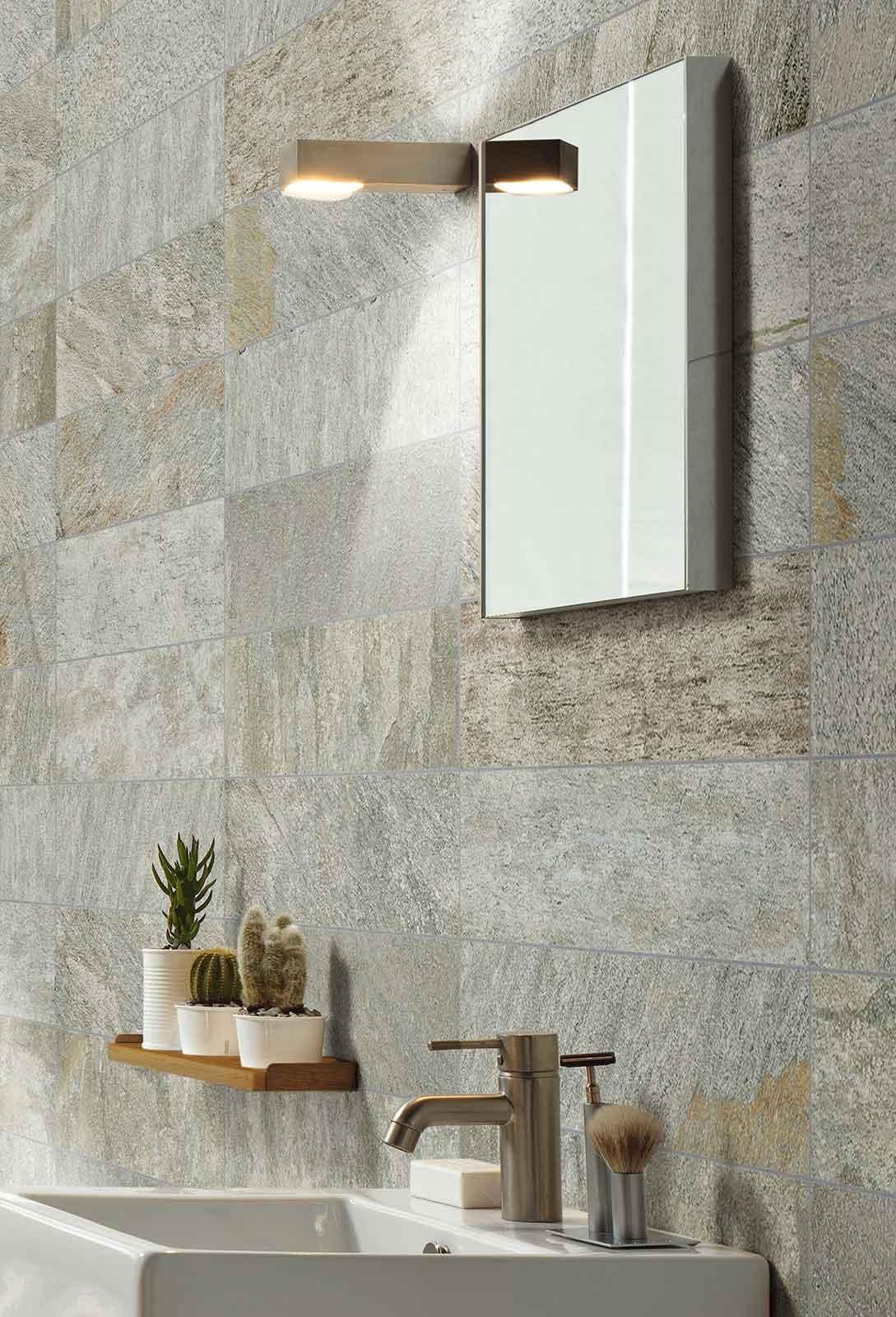 Pareti in pietra per interni minimal marazzi - Pietre decorative per interni ...