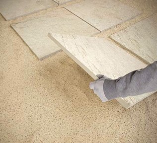 Posa su sabbia marazzi for Pose carrelage sur lit de sable