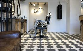 Piastrelle in stile vintage per il barbershop a taranto marazzi