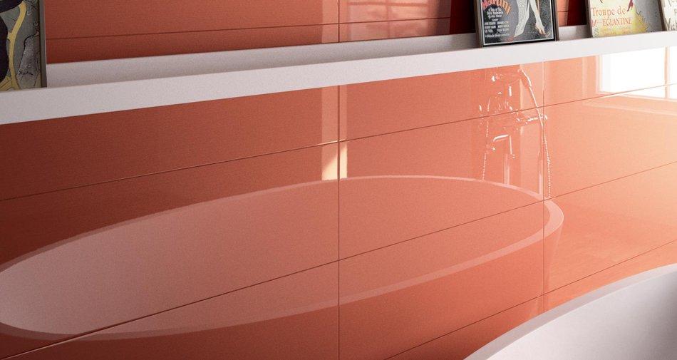 Piastrelle lucide per il bagno quali sono le proposte marazzi marazzi - Piastrelle rosse lucide ...
