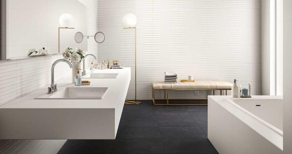 Effetto 3d per un bagno moderno marazzi