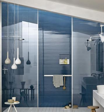 Piastrelle per bagno colore blu marazzi - Dipingere piastrelle bagno ...
