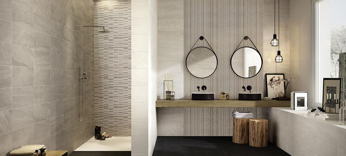 Interiors rivestimento bagno e cucina marazzi - Rivestimento cucina effetto pietra ...