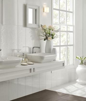 Suite ceramica lucida effetto marmo marazzi - Bagno effetto marmo ...