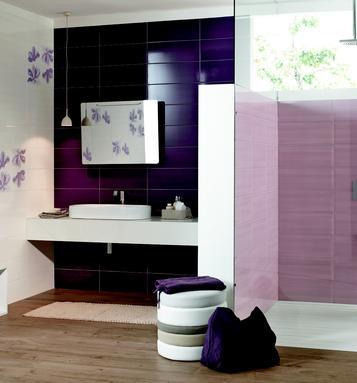 Piastrelle per bagno colore viola marazzi - Piastrelle viola bagno ...