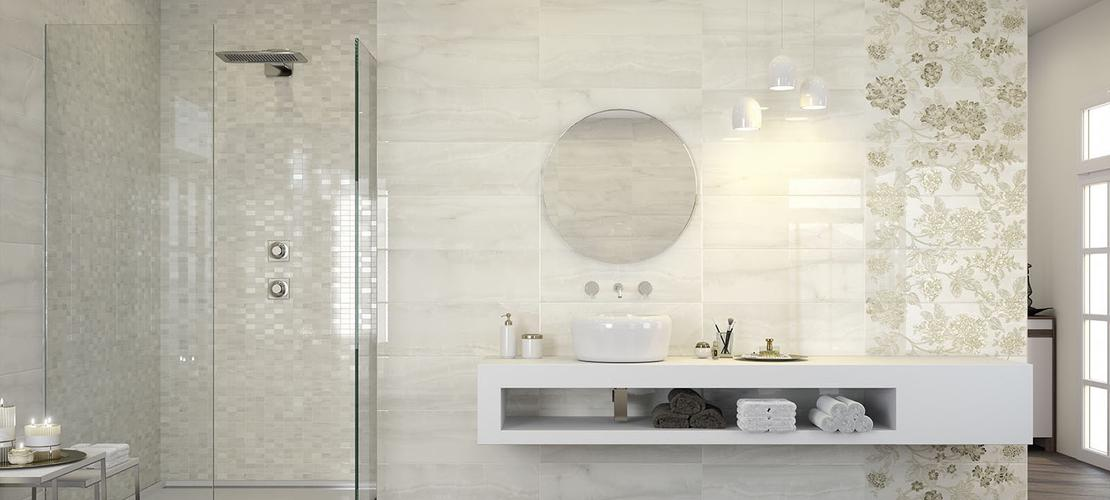 Onix ceramica per bagno effetto marmo marazzi - Rivestire piastrelle bagno ...
