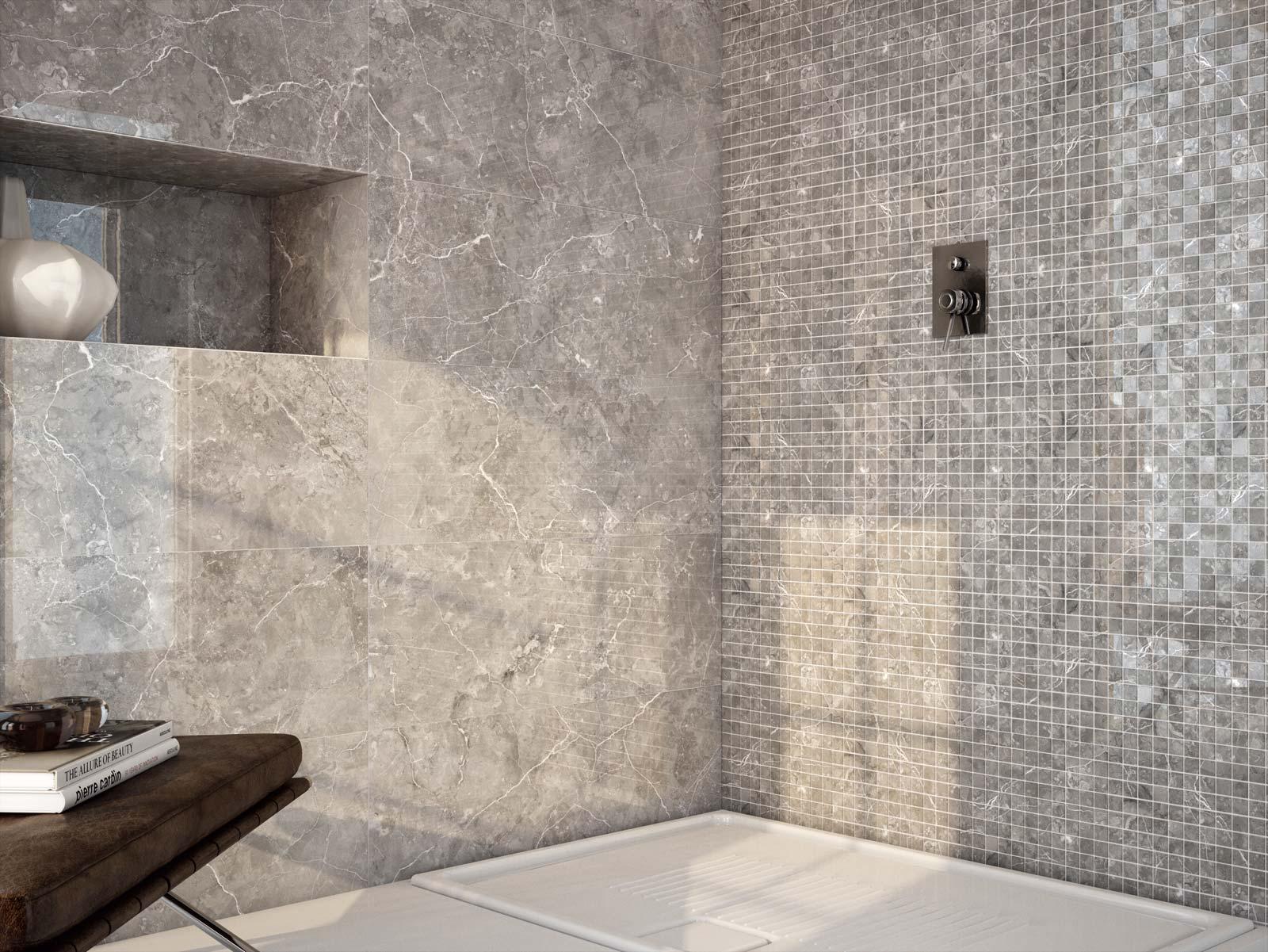 Perseo piastrelle lucide effetto marmo marazzi