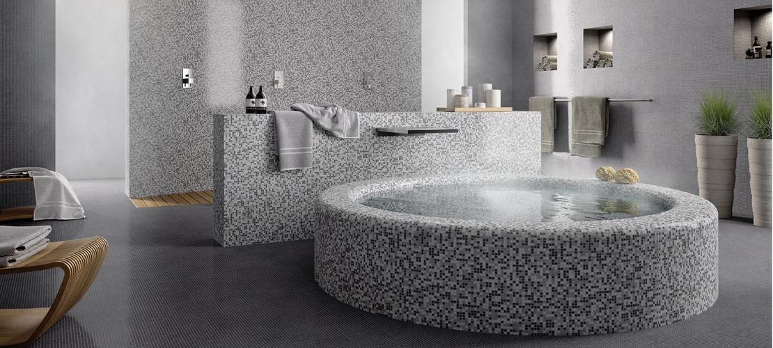 Piastrelle a mosaico per bagno e altri ambienti marazzi - Bagno mosaico rosso ...